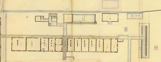 自習室(三重県師範学校全図、部分)