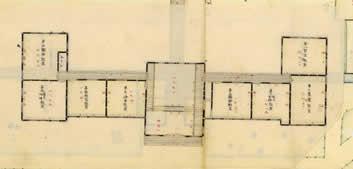 本館1階(三重県師範学校全図、部分)