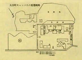 大谷町キャンパスの変遷(概略図)