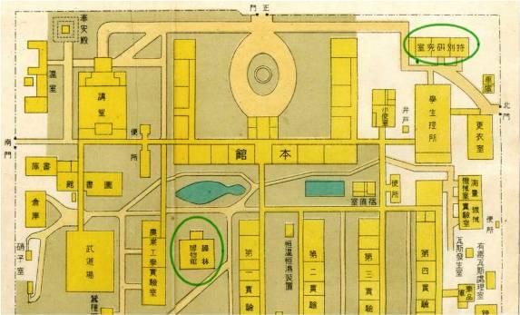 三重高等農林学校配置図
